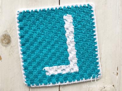 letter l graph free crochet pattern