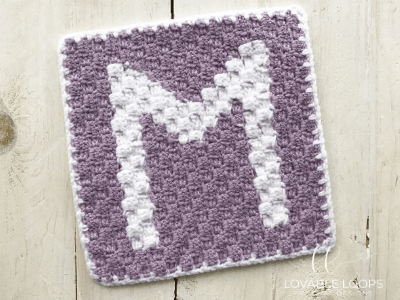 letter m graph free crochet pattern
