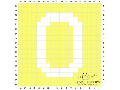letter o graph free crochet pattern