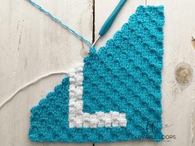 alphabet graph letter l free crochet pattern