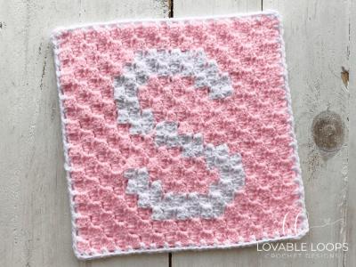 letter s graph free crochet pattern