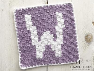 letter w graph free crochet pattern