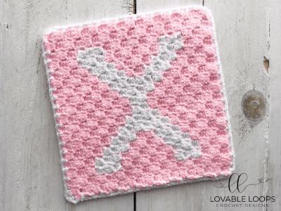letter x graph free crochet pattern