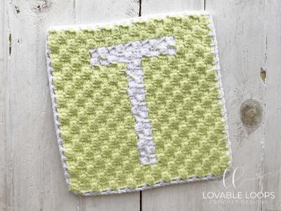 letter t graph free crochet pattern