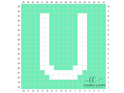 letter u graph free crochet pattern