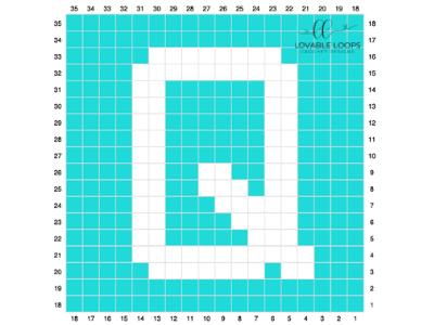 letter q graph free crochet pattern
