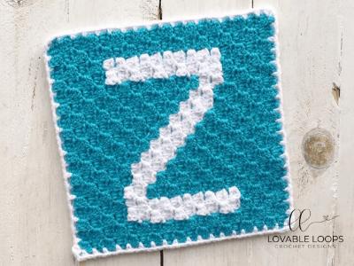 letter z graph free crochet pattern