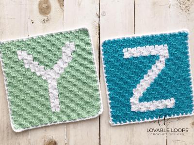 letter y graph free crochet pattern