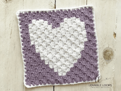 Heart Graph Free Crochet Pattern Alphabet Crochet Baby Blanket