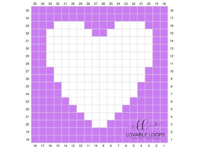 heart graph free crochet pattern