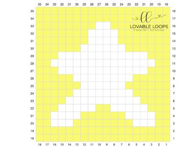 corner to corner star graph free crochet pattern