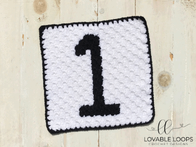 Number One Graph Free Crochet Pattern Calculator Crochet Blanket