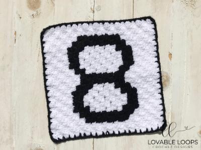 Number Eight Pixel Graph Free Crochet Pattern