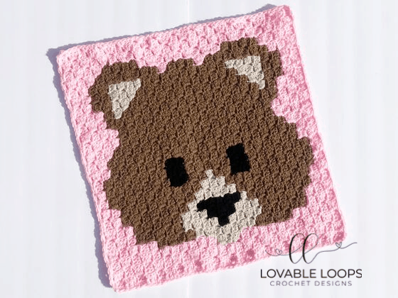 Crochet Bear Emoji Graph Pattern
