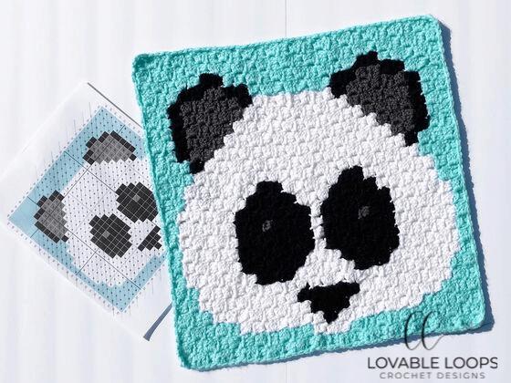 crochet panda emoji c2c graph