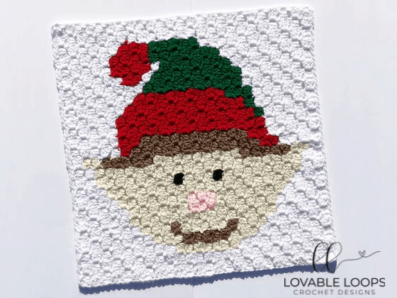 Crochet Elf c2c Graph Pattern