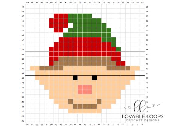 Crochet Elf c2c Graph Pattern