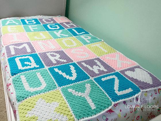 crochet alphabet blanket c2c pattern free