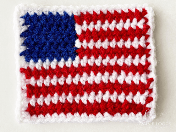 crochet american flag applique free pattern