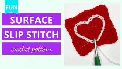 surface slip stitch crochet pattern tutorial
