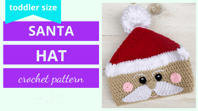 crochet santa hat video tutorial