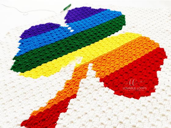 shamrock blanket free crochet pattern