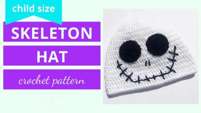 crochet skeleton hat pattern tutorial
