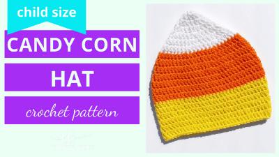 candy corn hat beanie crochet pattern tutorial