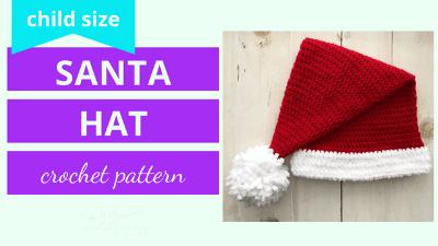 santa hat crochet pattern tutorial