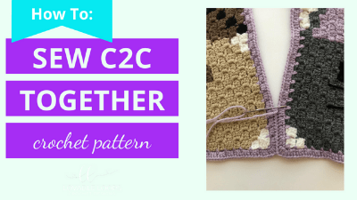 How to stitch a c2c graphgan together crochet video tutorial