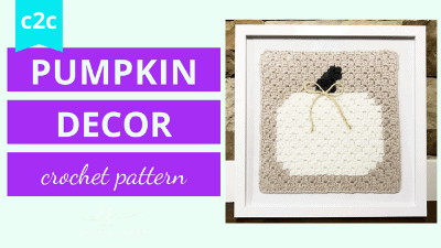 pumpkin decor crochet pattern tutorial