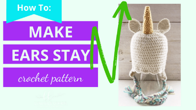 how to make crochet ears stand stay up video tutorial