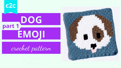 dog emoji graph c2c crochet pattern tutorial