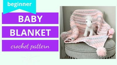 c2c beginner baby blanket crochet pattern tutorial