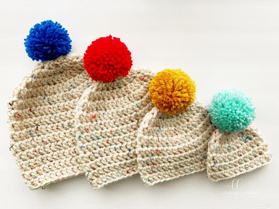 bulky beanie free crochet pattern