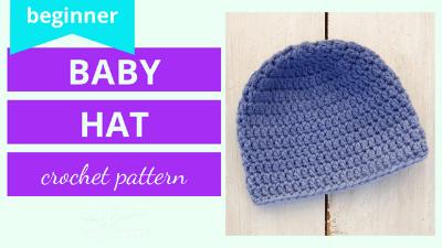 baby hat for beginners crochet pattern video tutorial