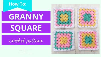 granny square crochet pattern tutorial