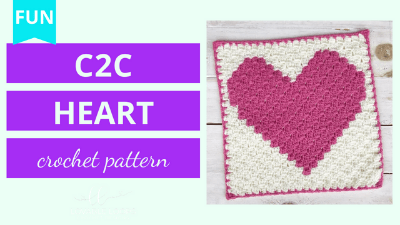 c2c heart graph crochet pattern tutorial