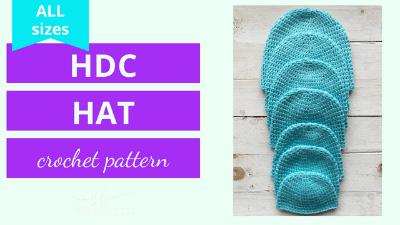 half double crochet hat pattern tutorial