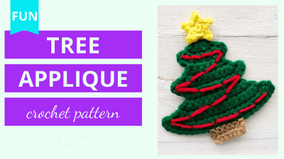 christmas tree applique crochet pattern tutorial