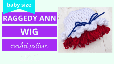 raggedy ann wig hat crochet pattern tutorial