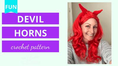 Devil Horns Crochet Pattern Video Tutorial