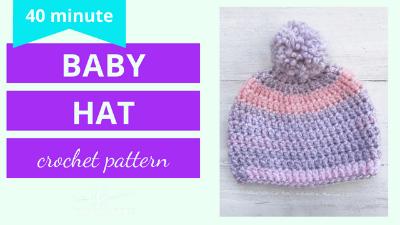 free baby beanie crochet pattern video tutorial