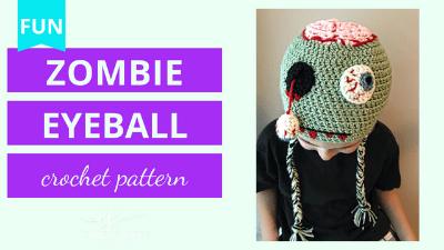 zombie hanging eyeball crochet tutorial