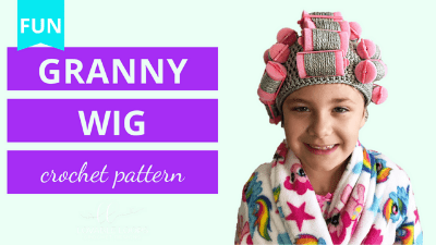 granny wig crochet tutorial