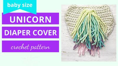 unicorn diaper cover crochet pattern tutorial