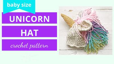 unicorn hat crochet pattern tutorial