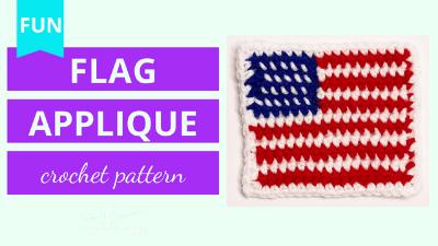 american flag applique crochet pattern tutorial