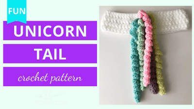 unicorn tail crochet pattern tutorial