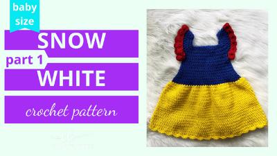 snow white costume dress crochet pattern